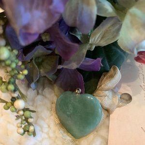 Green Heart Shaped Jade Pendant (w/o chain)
